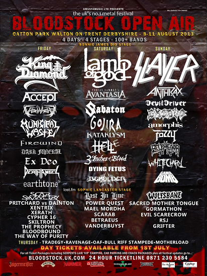Bloodstock Open Air 2013