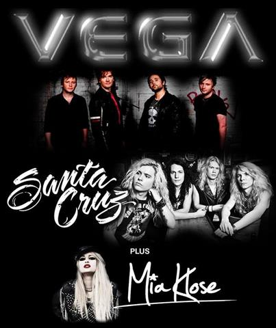 Vega Live @ Rock City supported by Santa Cruz & Mia Klose