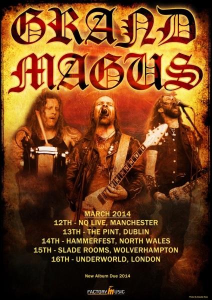Grand Magus UK/Ireland 2014 Tour Poster