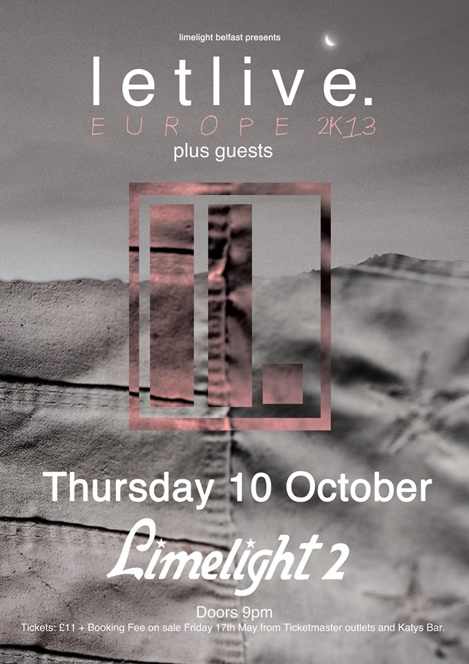 letlive. – Limelight 2, Belfast – Thursday October 10th 2013